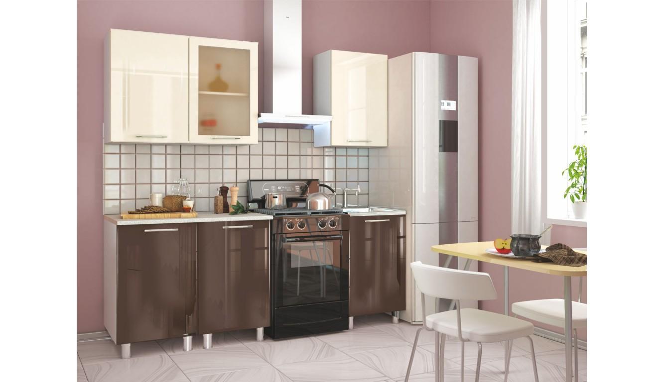 Кухня Техно Шоколад \ ваниль 1,5м