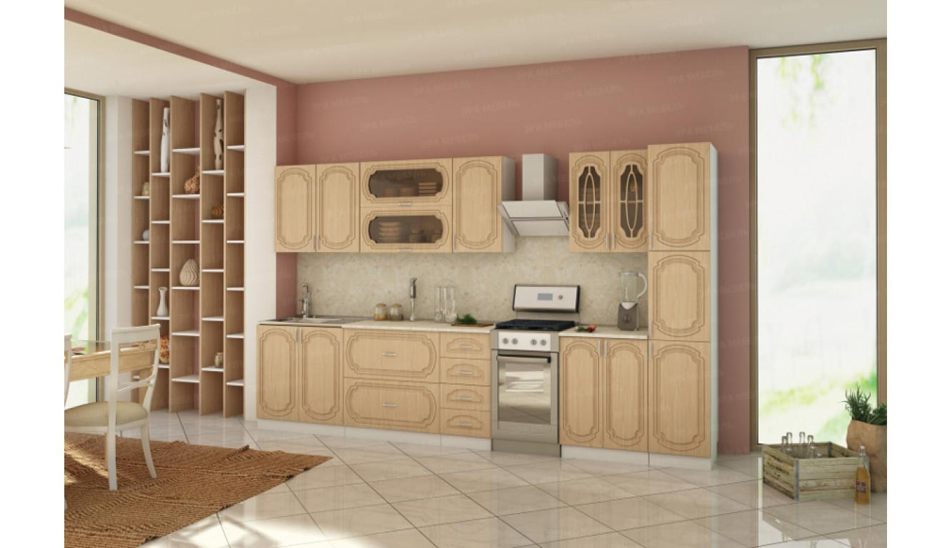 """Кухня """"Ольха МДФ"""" 3,1 м."""