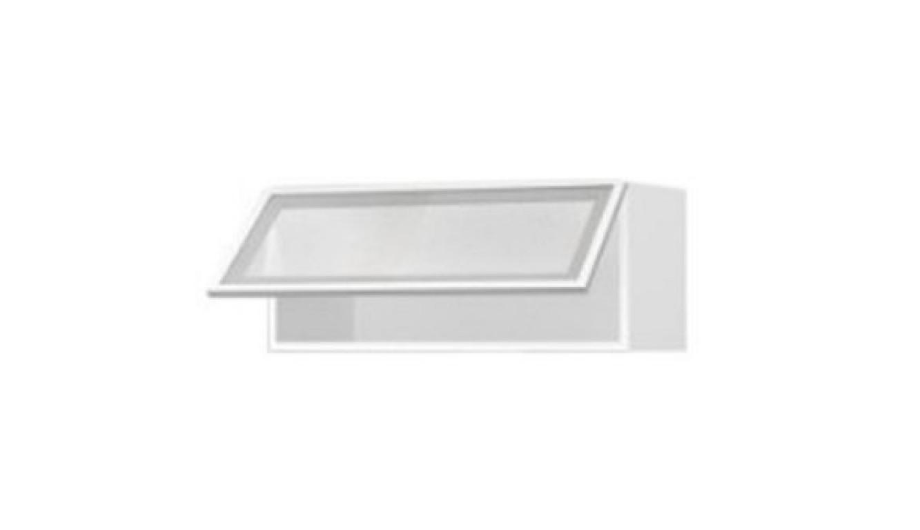 МДФ Шкаф горизонтальный со стеклом (800х358х314)