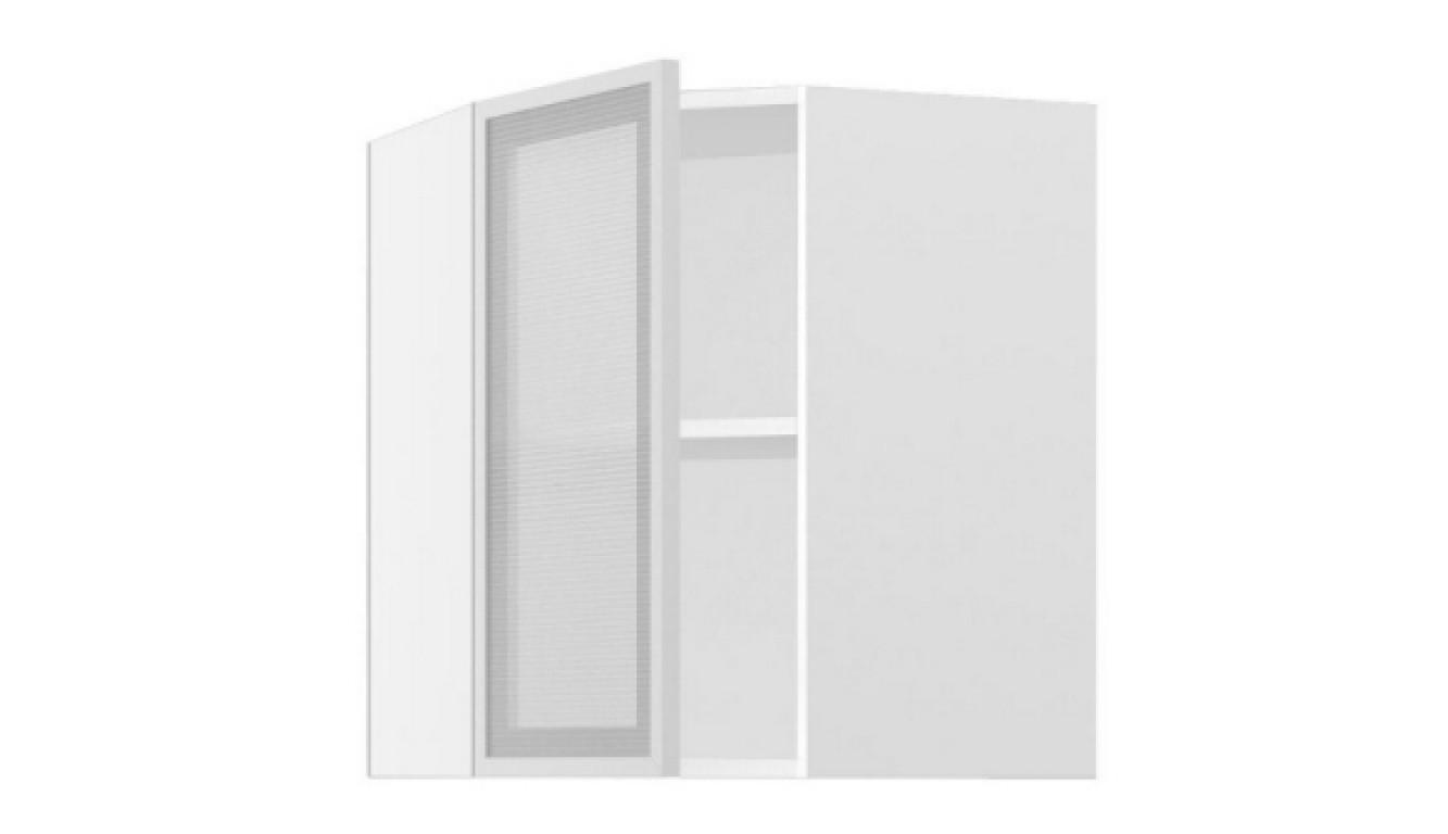 МДФ Шкаф верхний угловой со стеклом (557х716х557)