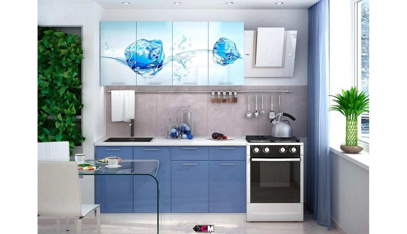 Кухня Лёд МДФ 1.6 метра
