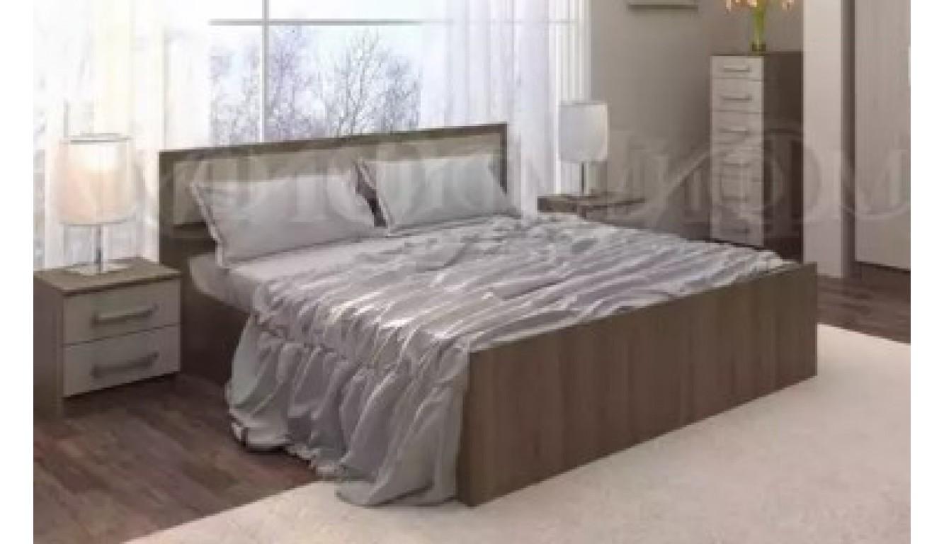 """Кровать полутороспальная """"Фиеста""""  120х200см Ясень шимо"""