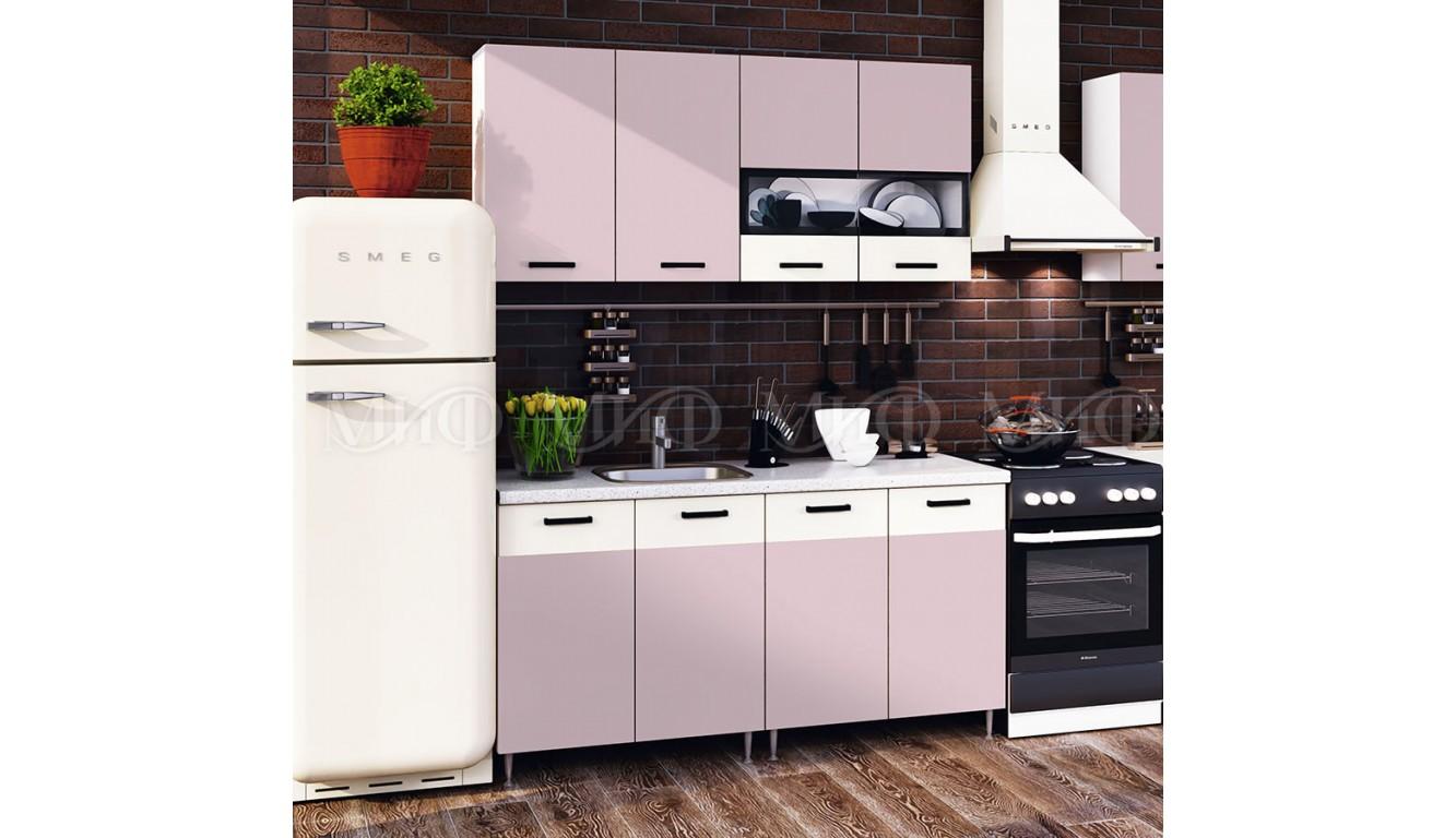 "Кухня ""Рио"" ЛДСП розовый 1,6м"
