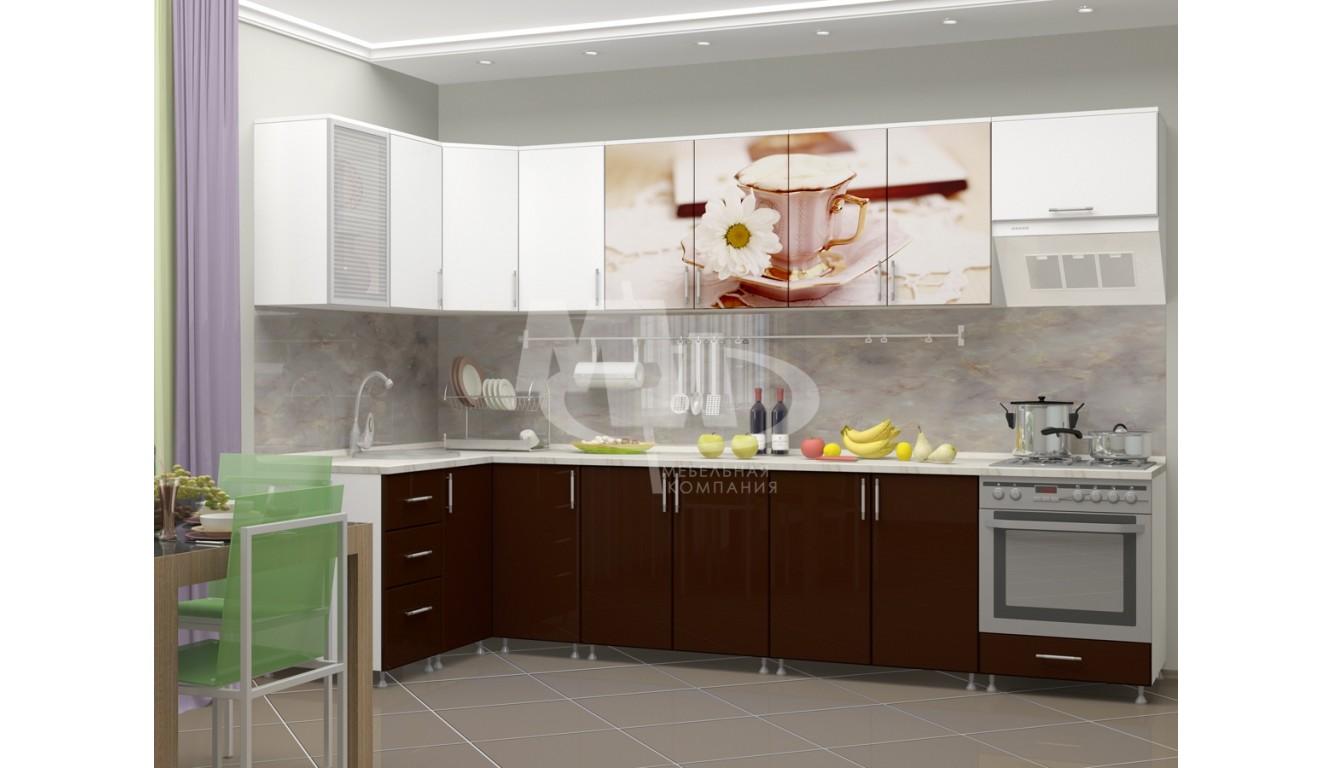 """Кухня """"Латте МДФ"""" угловая 1,4х3,2м."""