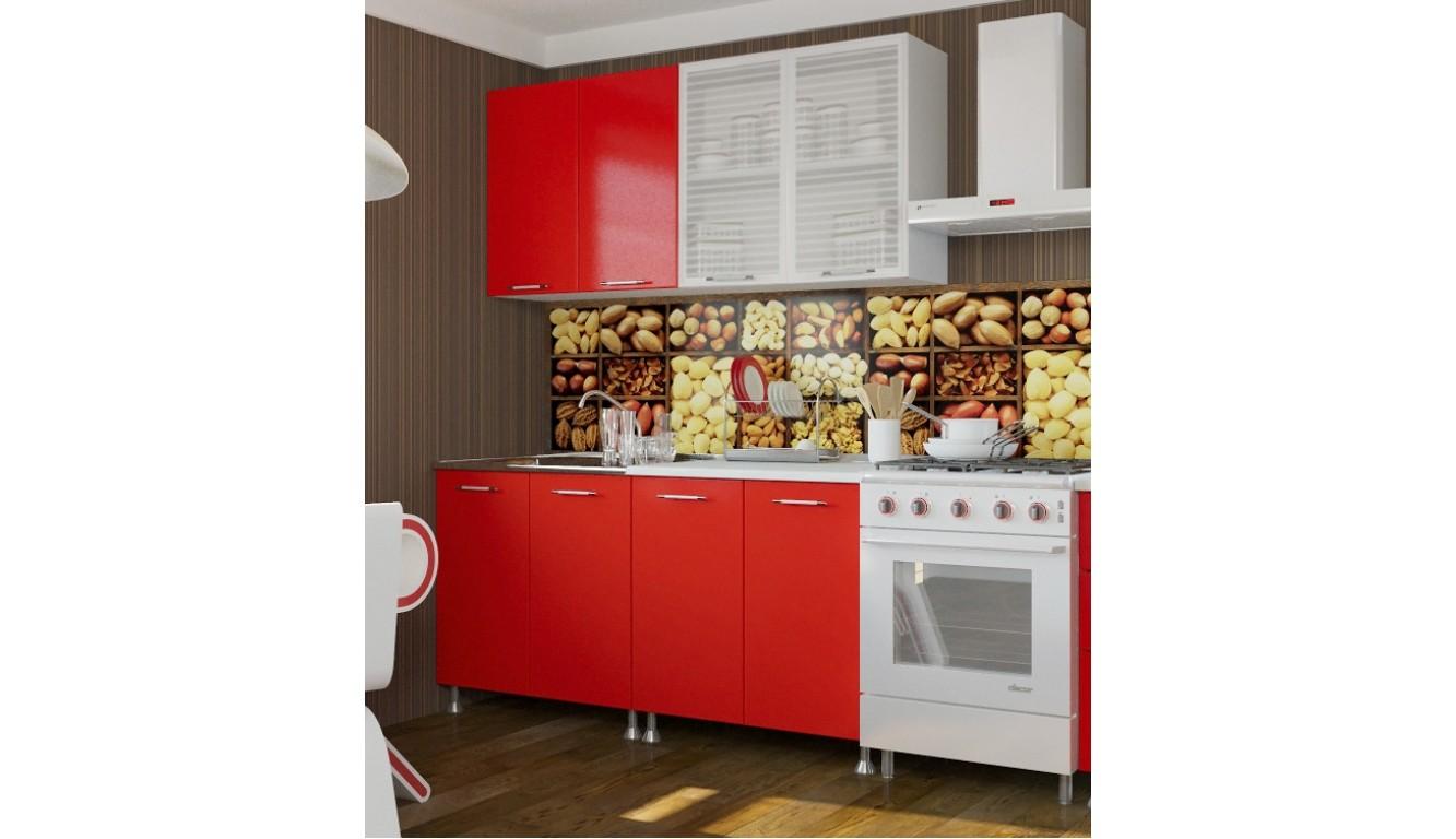 """Кухня """"Красный интер ЛДСП""""  1,6м."""