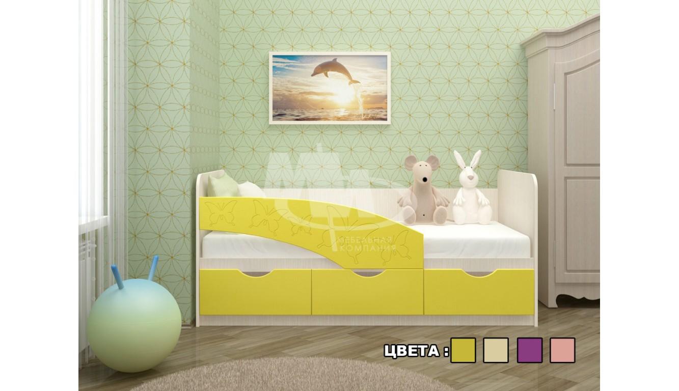 """Кровать детская """"Бабочки"""" 1,8м"""