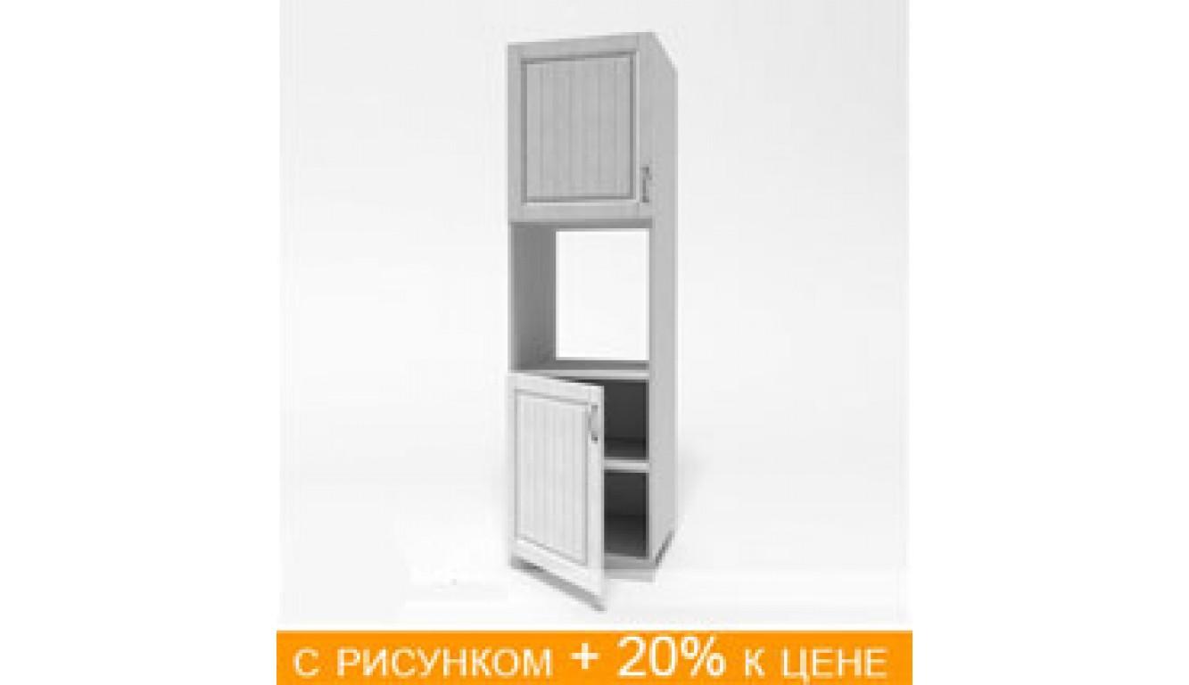 ЛДСП Пенал (дверь нижняя 600 цельная + духовка + 600 верхняя цельная) (600х2100х490)