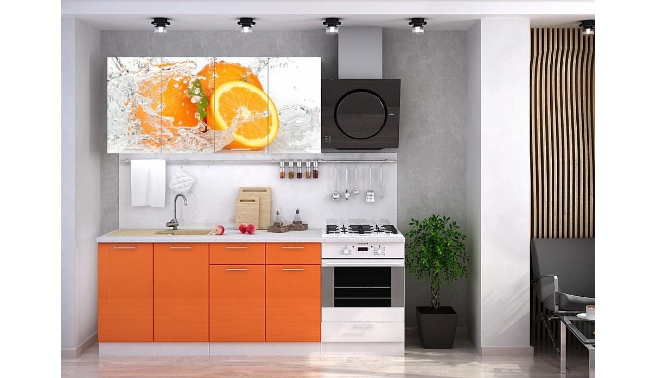"Кухня ""Апельсин ЛДСП""  1.6м."
