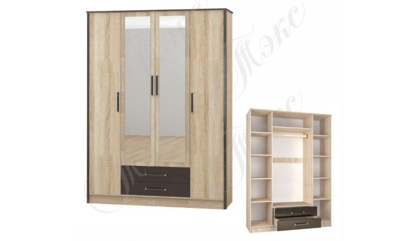 """Шкаф """"Лирика"""" 4-ств.  1,62 метра"""