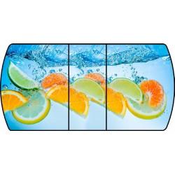Стол кухонный раздвижной Апельсин в воде  002