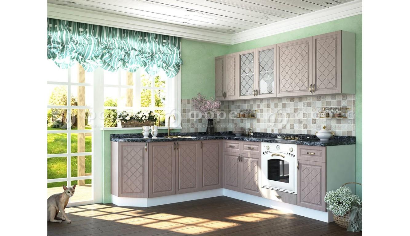 Кухня Айвори Дуб Кофейный 2,1 х 2,4м