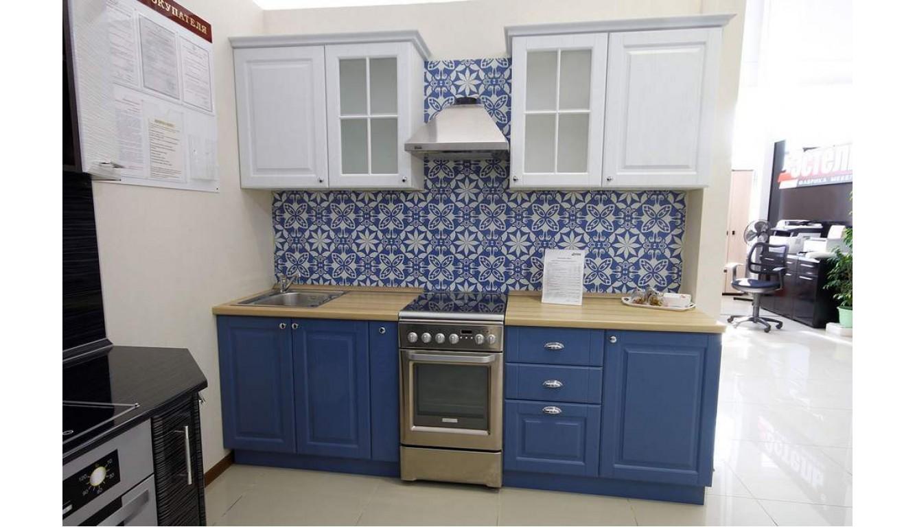 Кухня классическая Квадро Джинс\белый 1,85м
