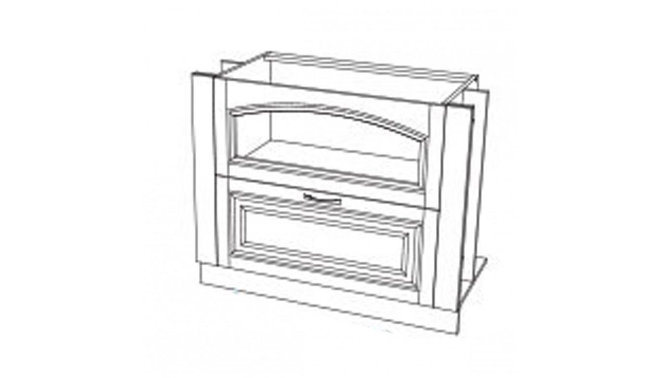 МДФ Шкаф нижний горизонтальный 2 ящика (1000х716х314)