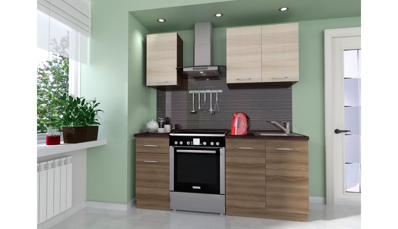 Кухня Ясень темный \ светлый 1,2м