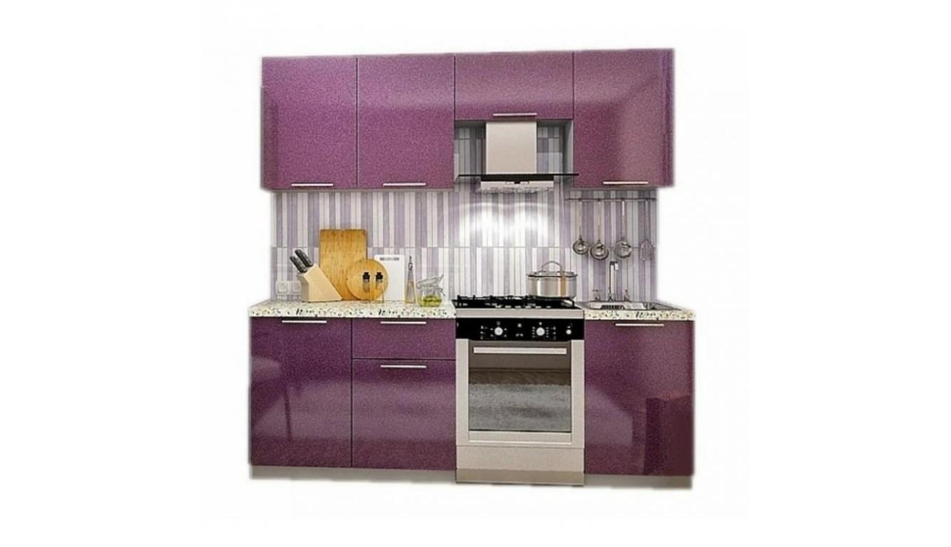 Кухня Техно фиолет МДФ 2,1 метра