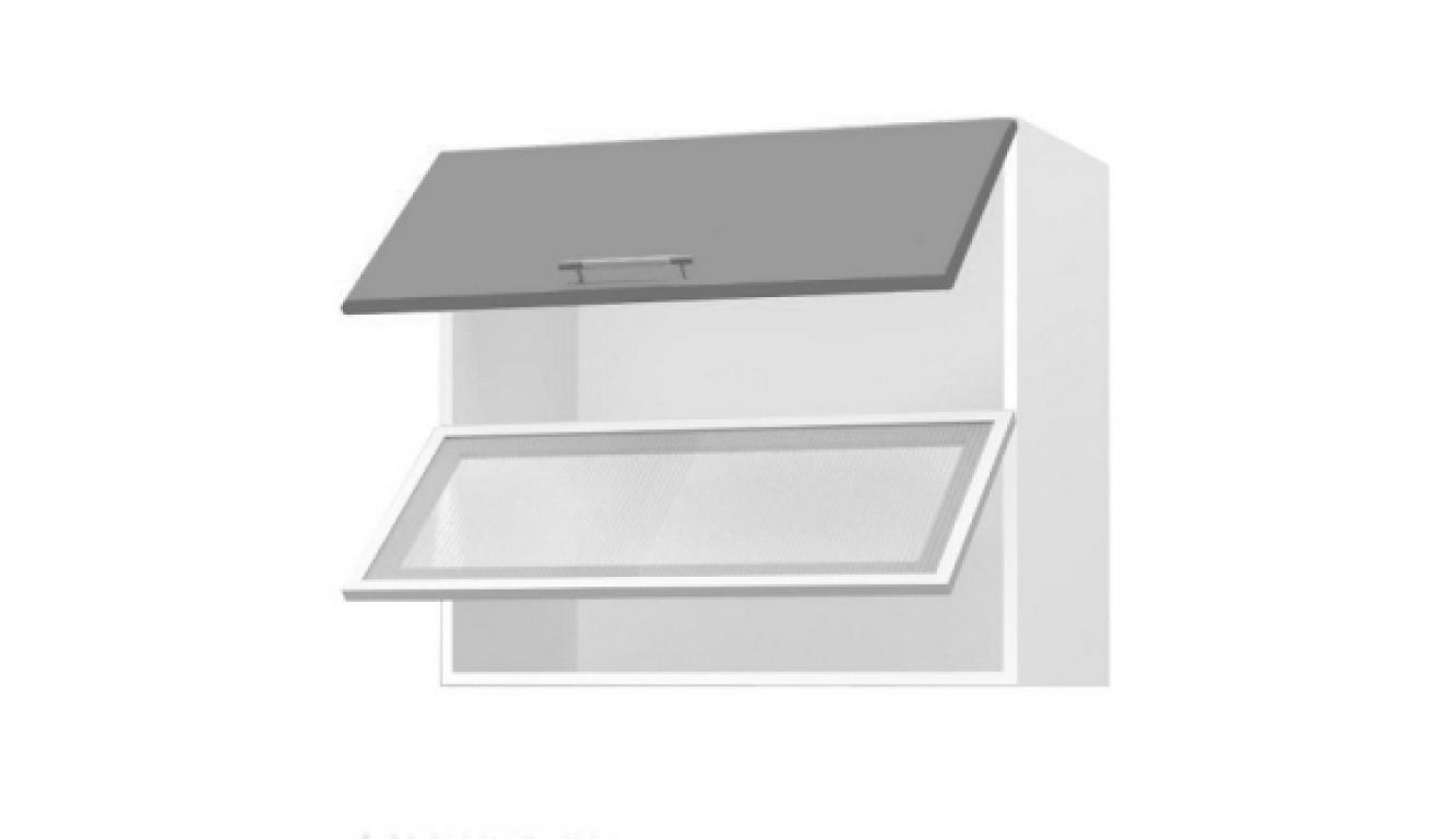 МДФ Шкаф горизонтальный со стеклом (800х716х314)