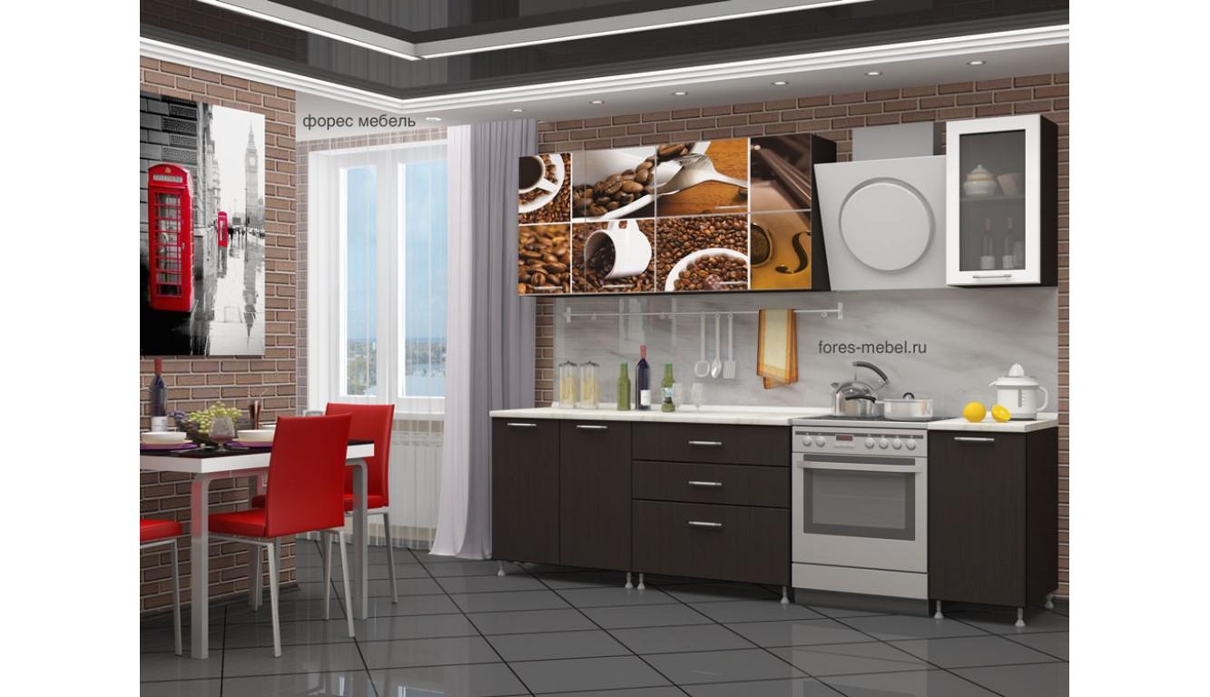 """Кухня """"Кофе МДФ"""" 1.8м."""