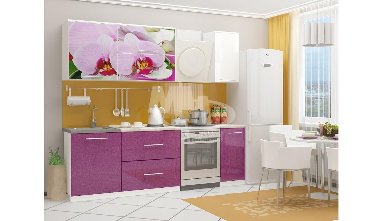 "Кухня ""Орхидея 2 МДФ"" 1,8м."