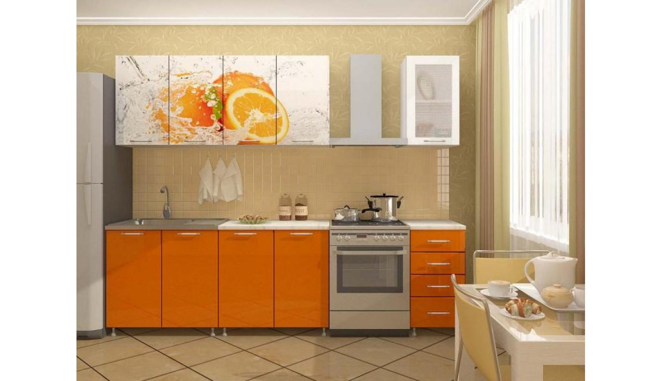"Кухня ""Апельсин ЛДСП""  2м."