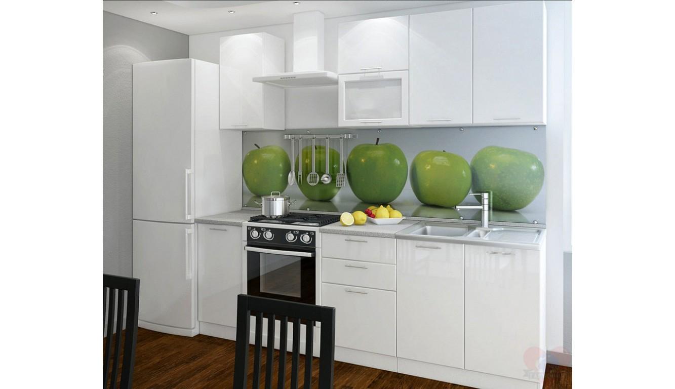 """Кухня """"Белый глянец МДФ"""" 1,8м."""