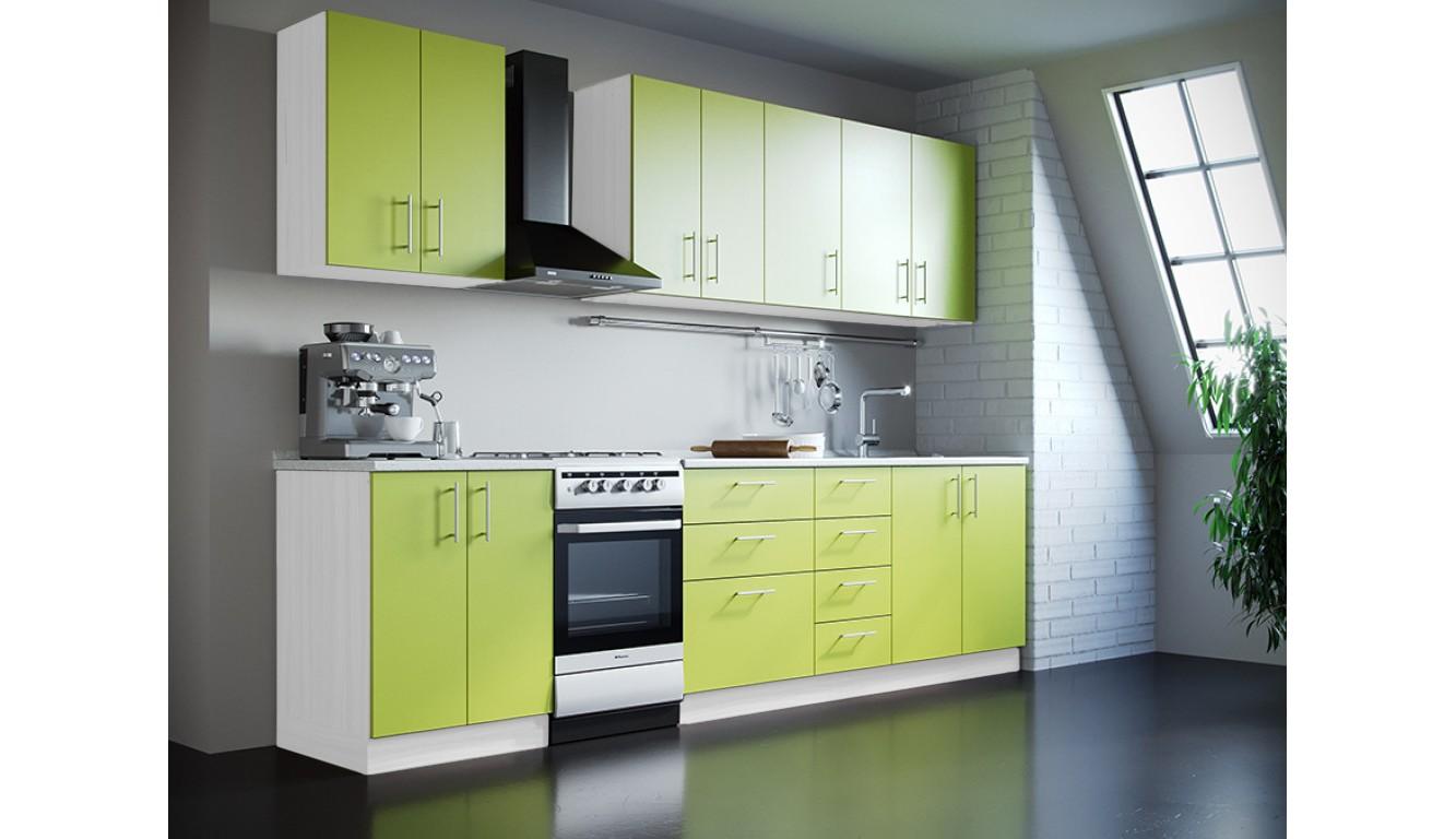 Кухня Техно салат ЛДСП 2,4 метра