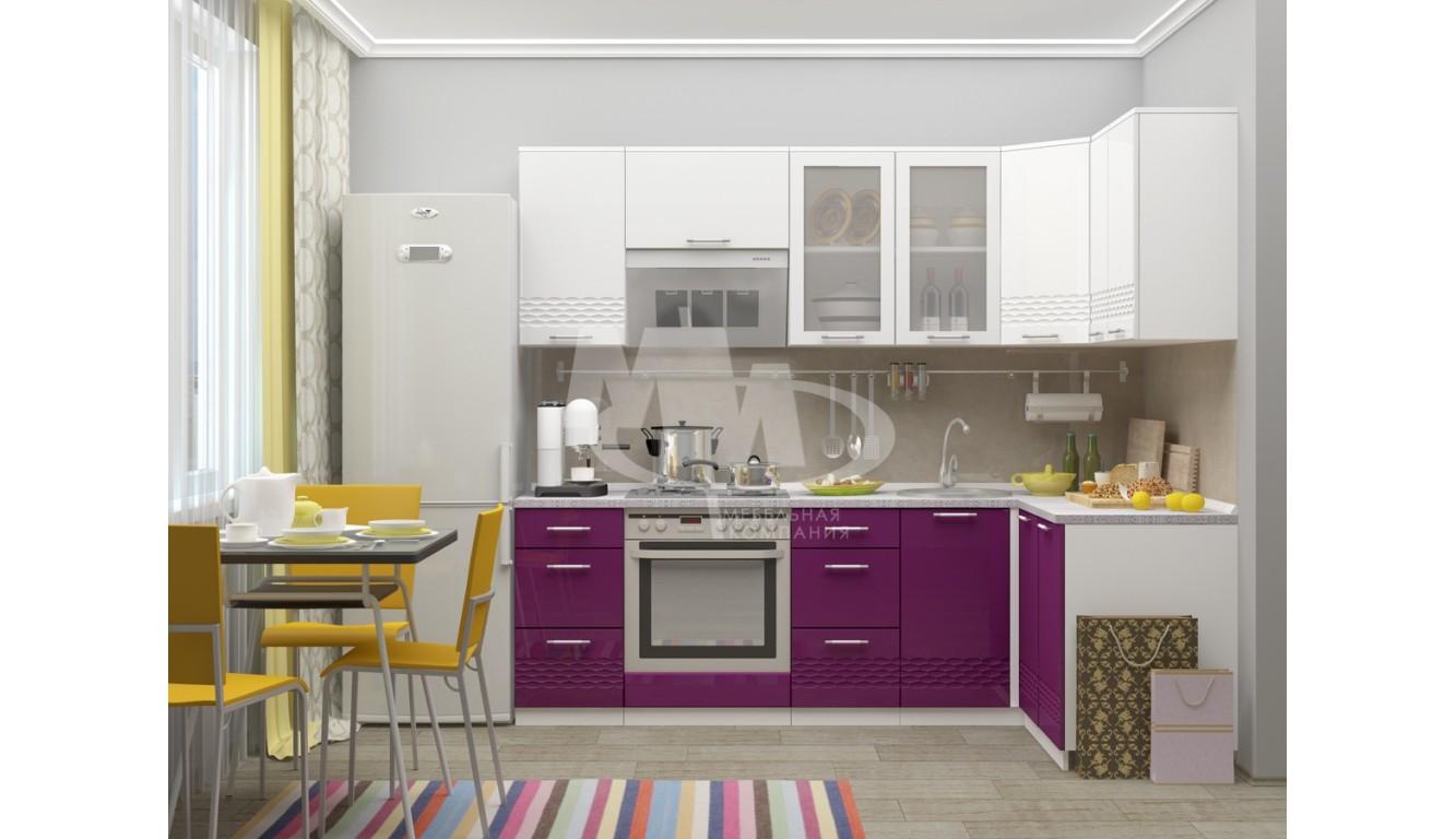 """Кухня """"Волна-3"""" угловая 2,4 х 1,4 м."""