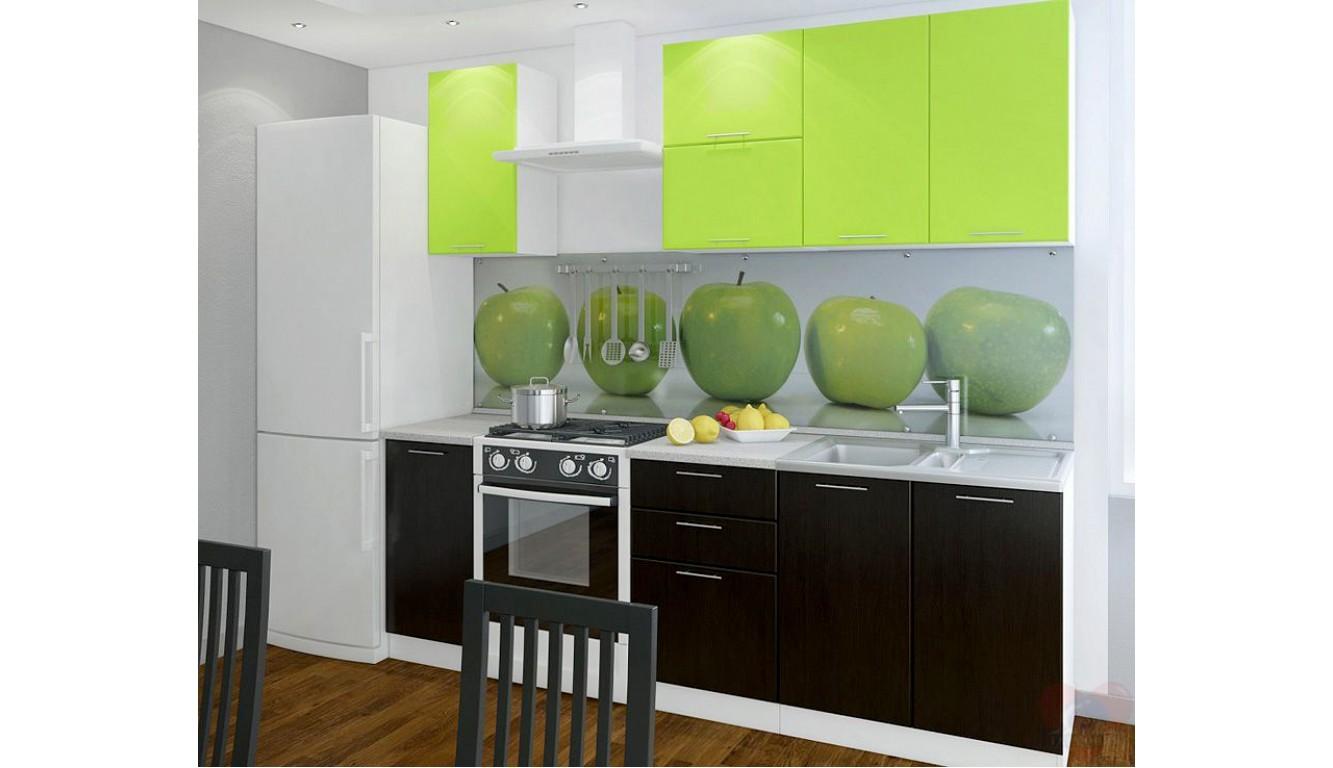 Кухня Техно венге-салат ЛДСП 1.7 метра