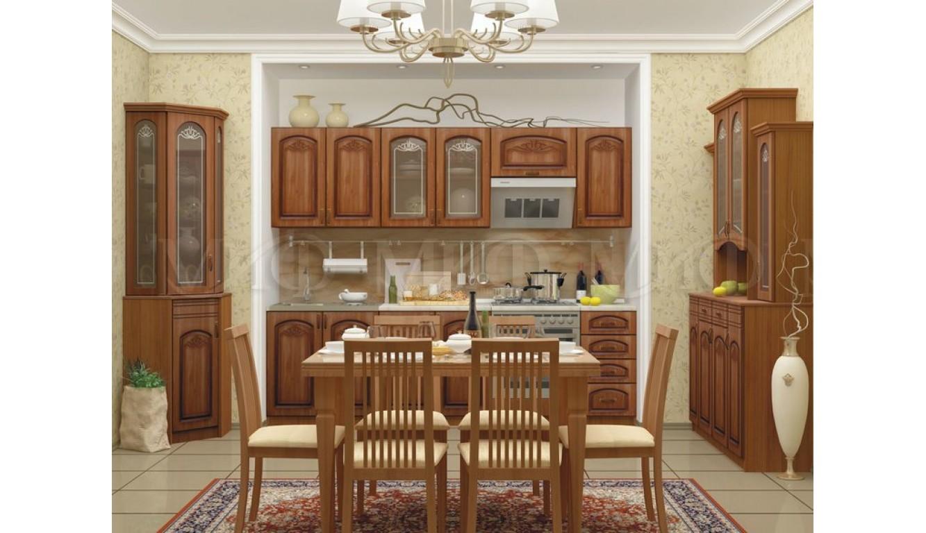 """Кухня """"Ольха МДФ"""" 2,6 м."""