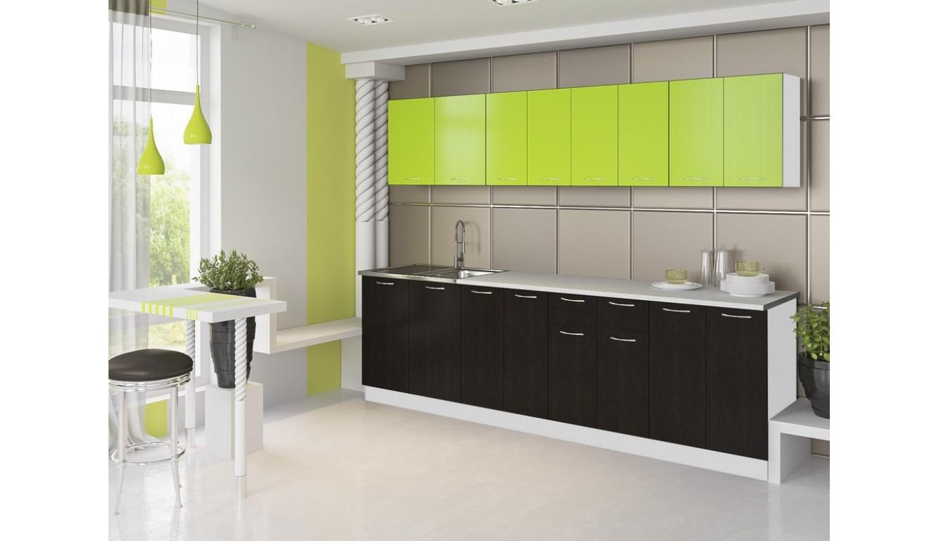 Кухня Техно венге-салат ЛДСП 2.6 метра