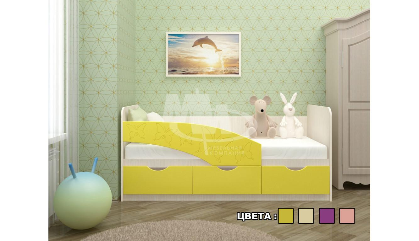 """Кровать детская """"Бабочки"""" 1,6м"""