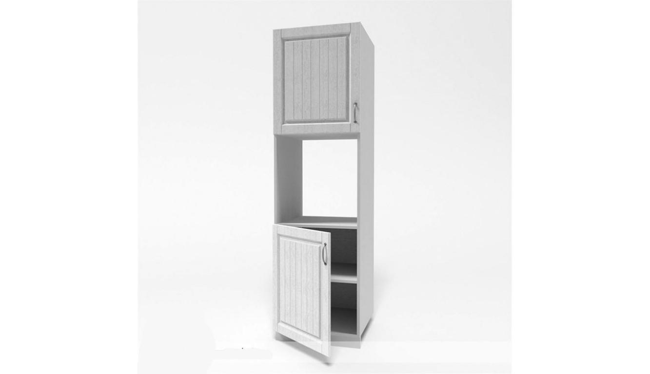 МДФ Пенал (дверь нижняя 600 цельная + духовка + 600 верхняя цельная) (600х2100х490)