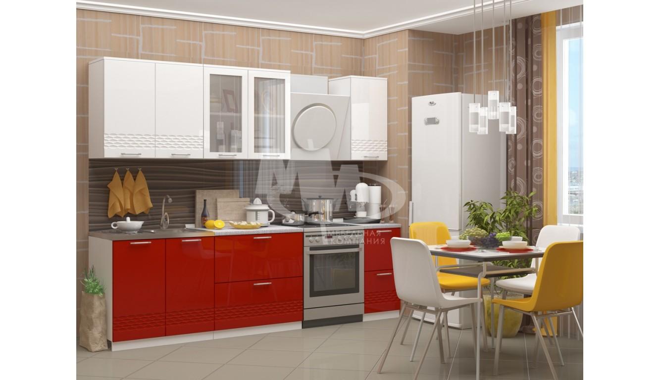 """Кухня """"Волна-2 МДФ"""" 2м."""