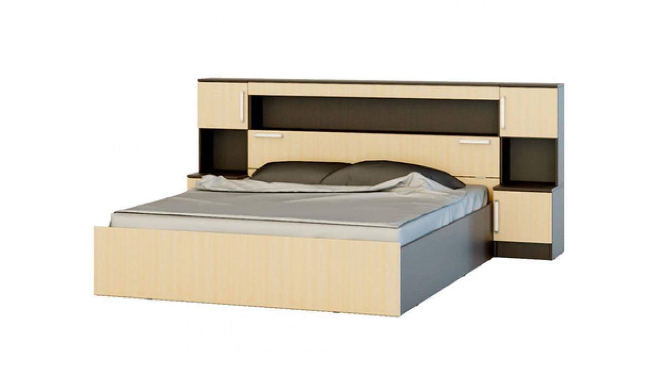 """Кровать """"Бася"""" 1,6м  с надстройкой"""