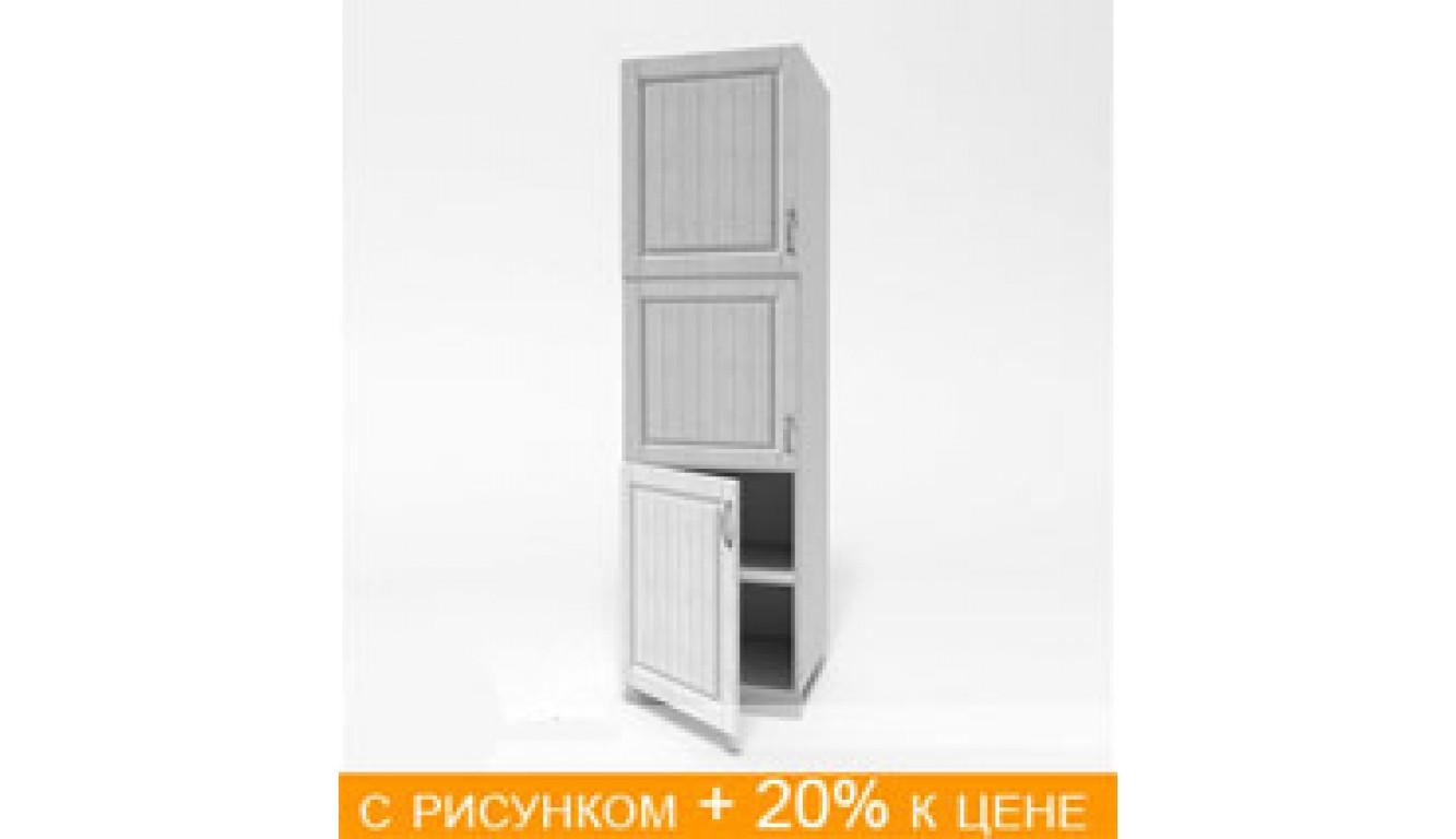 ЛДСП Пенал (дверь нижняя 600 цельная + дверь 600 цельная + 600 верхняя цельная) (600х2100х490)