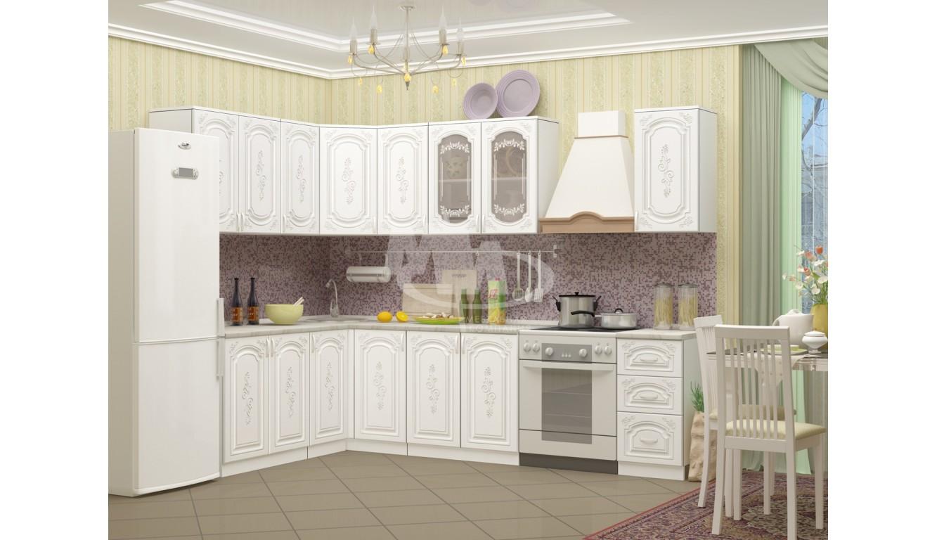 """Кухня """"Лиза 2 МДФ"""" угловая 2,2 х 1,6 м."""