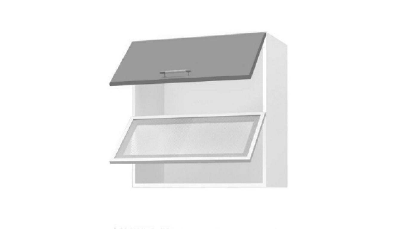МДФ Шкаф горизонтальный со стеклом (600х716х314)