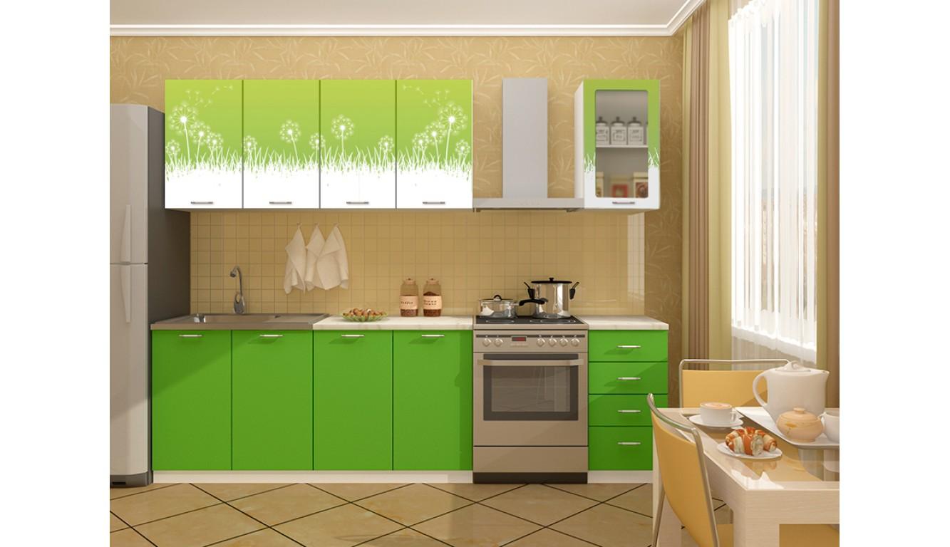 """Кухня """"Одуванчики МДФ"""" 2м."""