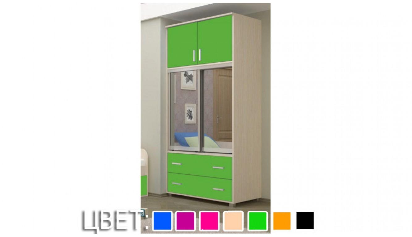 """Шкаф-купе """"Мини"""" зеленый 1,0х2,07м"""