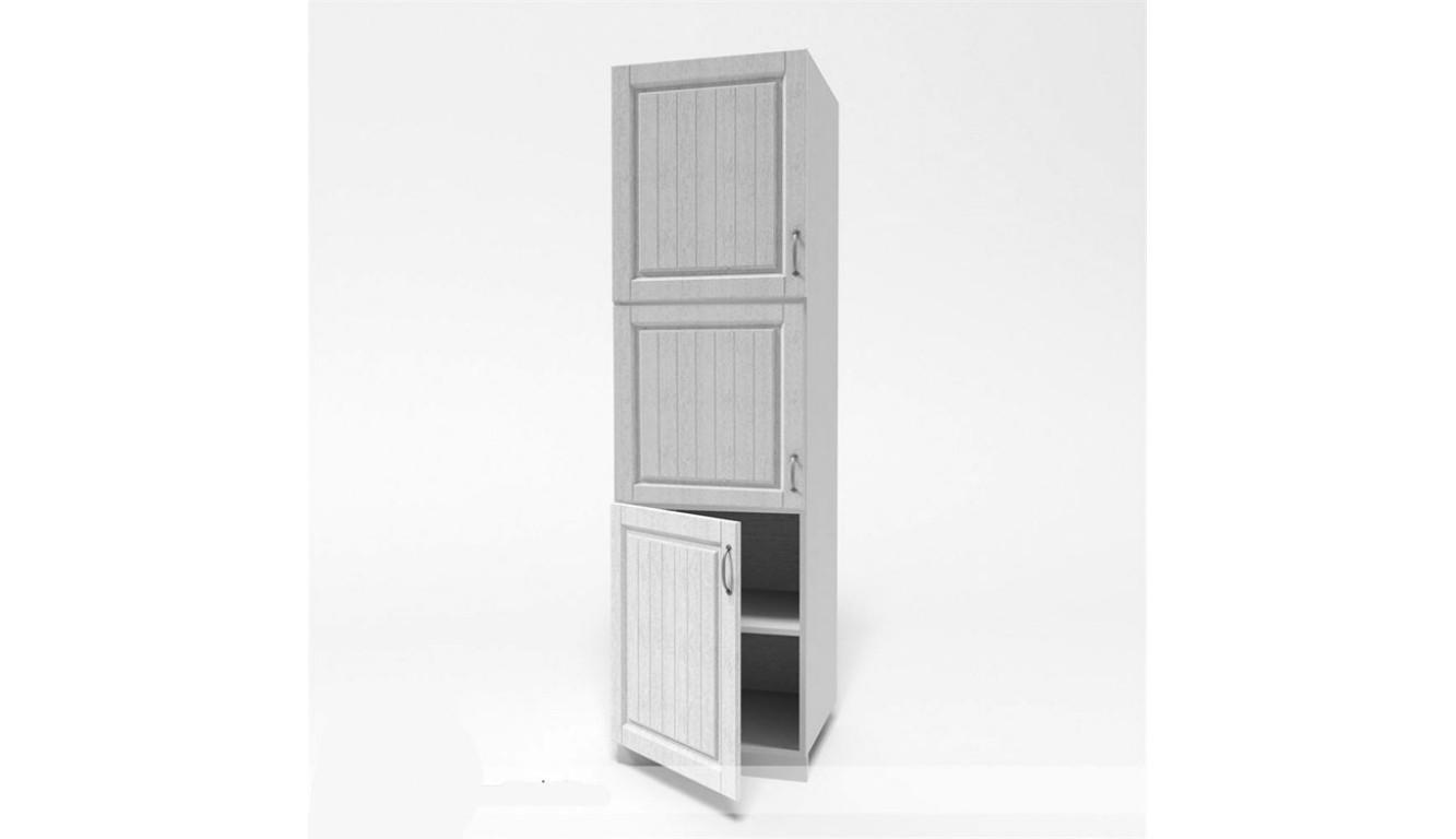 МДФ Пенал (дверь нижняя 600 цельная + дверь 600 цельная + 600 верхняя цельная) (600х2100х490)
