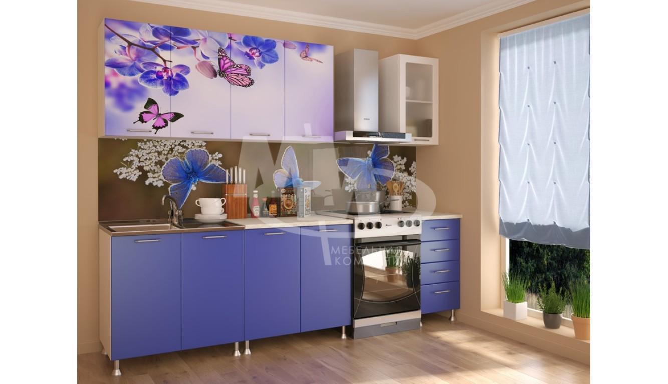"""Кухня """"Бабочки МДФ"""" 2м."""