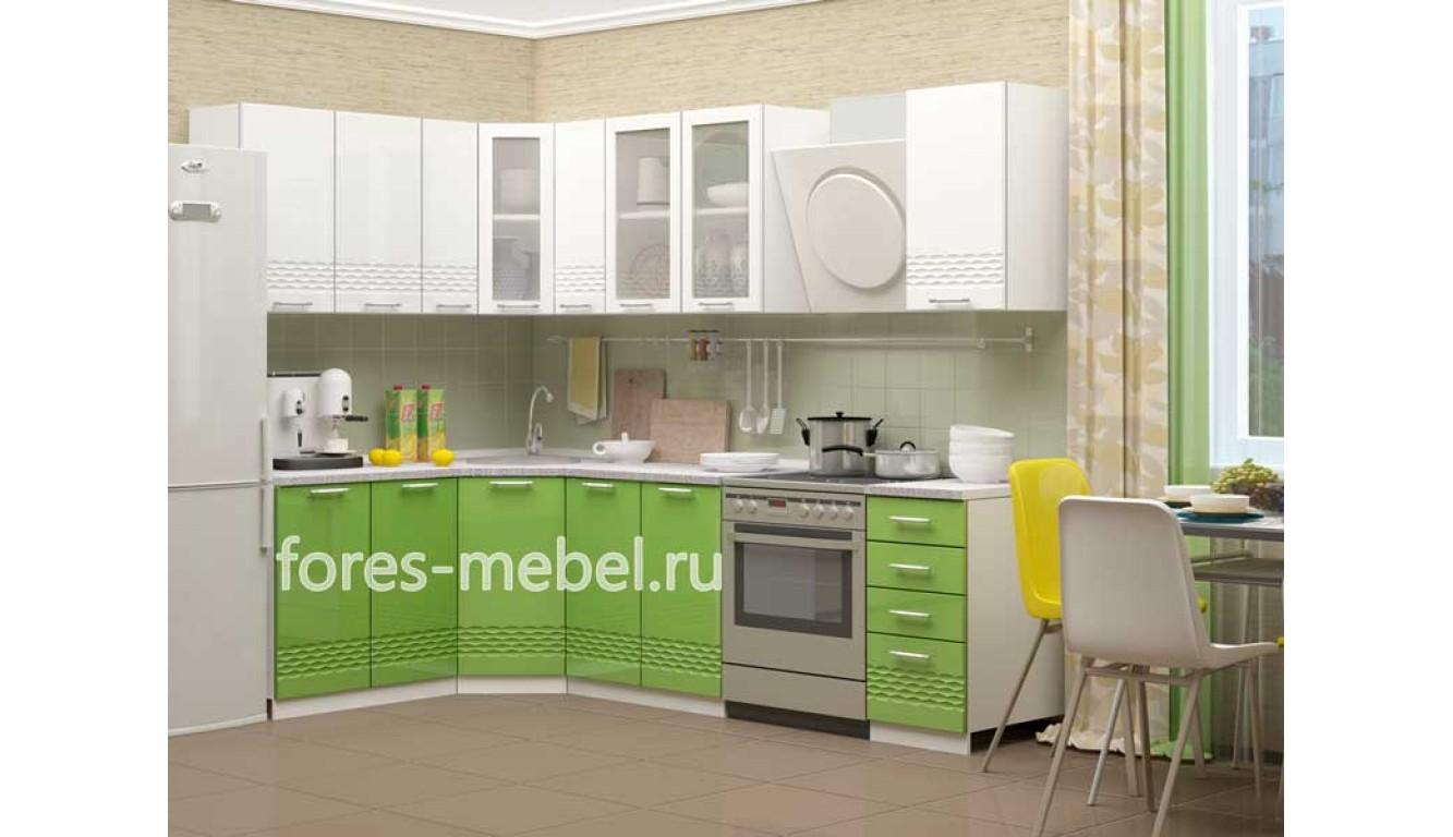 """Кухня """"Волна-4"""" угловая 1,63х2,03м."""