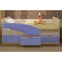 """Детская кровать """"Дельфин 2"""" 1,6м розовая"""