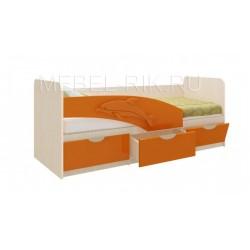 """Детская кровать """"Дельфин"""" 160х80 ваниль"""
