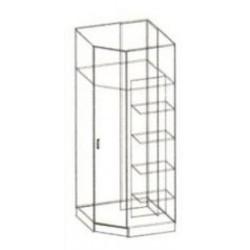 """Шкаф  угловой """"Сакура"""" 0,85 х 2,2 метра"""