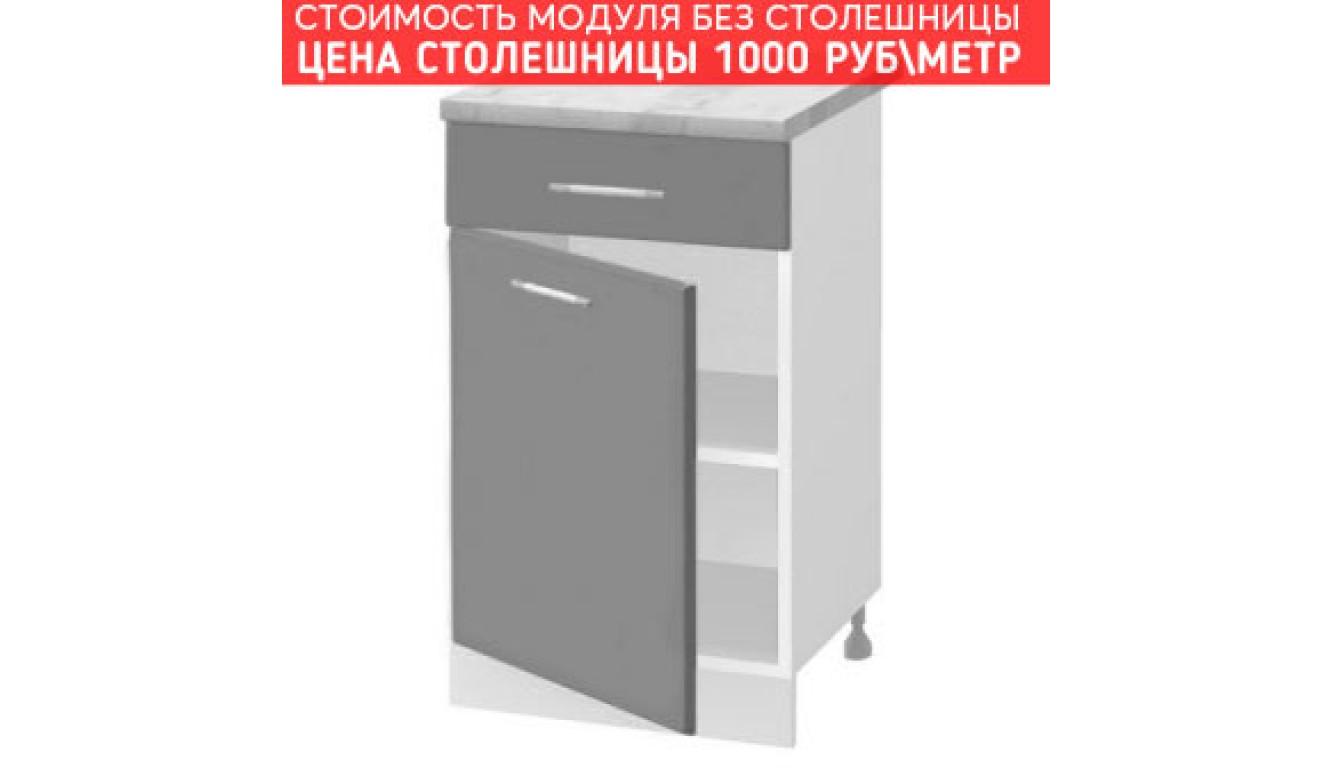 МДФ Шкаф нижний с 1 ящиком (400х840х474)