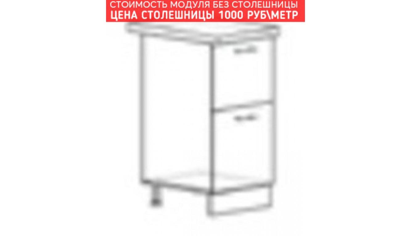 МДФ Шкаф нижний с 2 ящиками (400х840х474)