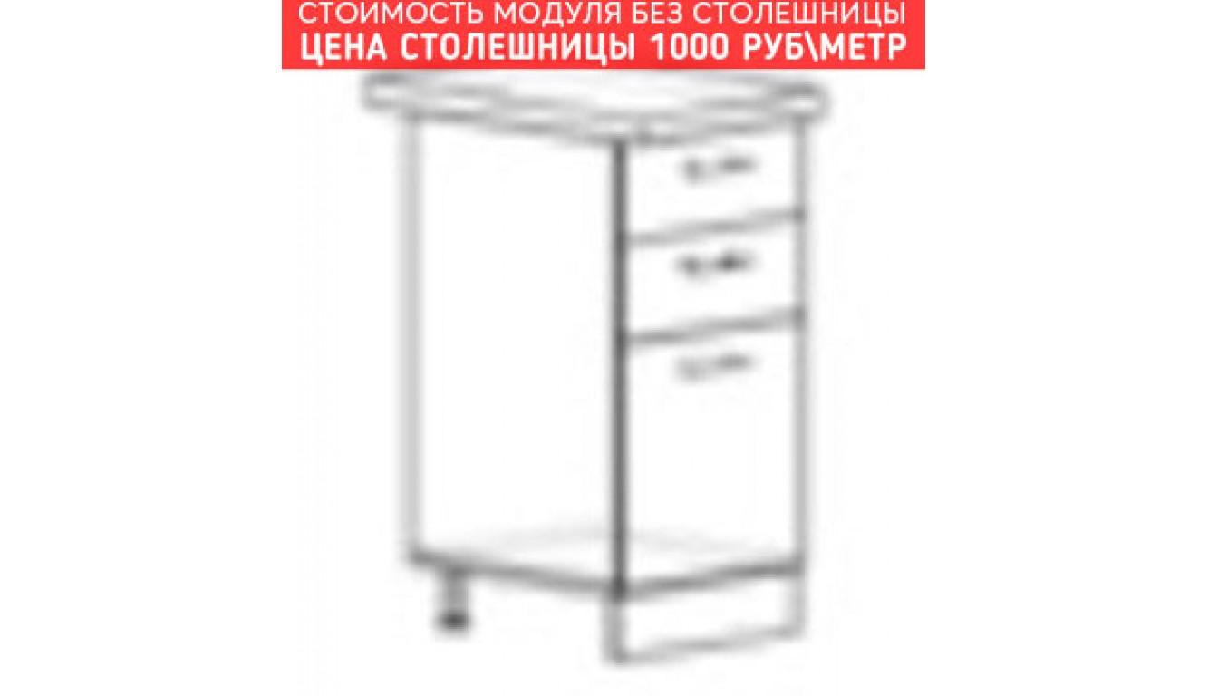 МДФ Шкаф нижний с 3 ящиками (400х840х474)