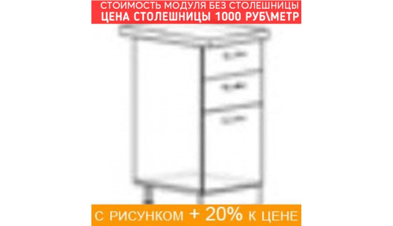 ЛДСП Шкаф верхний со стеклом (300х716х314)