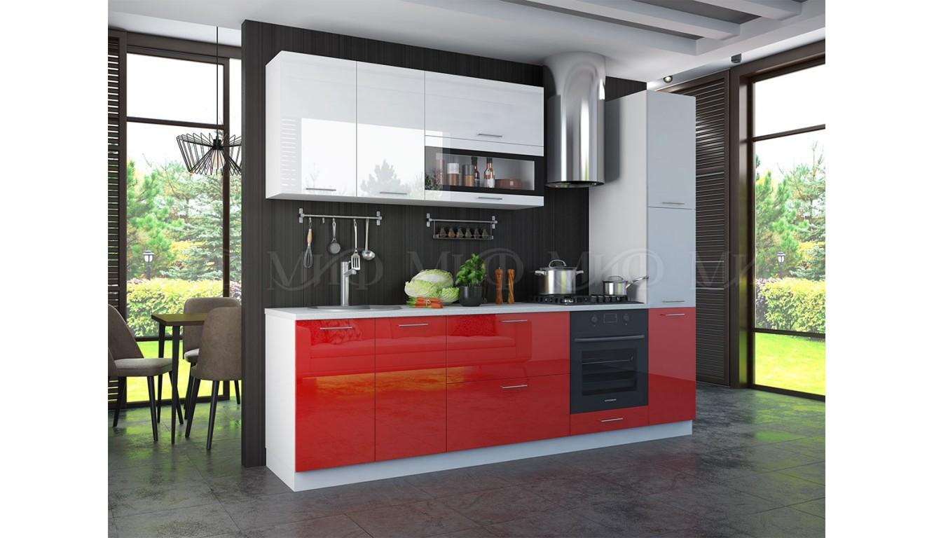 Кухня Рио белый \ красный 2,0м