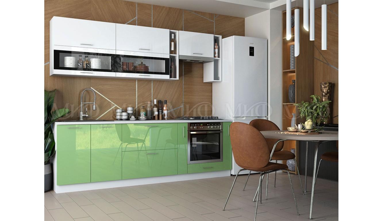 Кухня Рио белый \ эвкалипт 2,5м